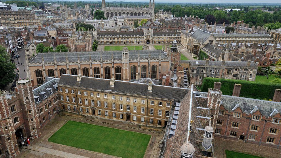 Aerial view of Cambridge University