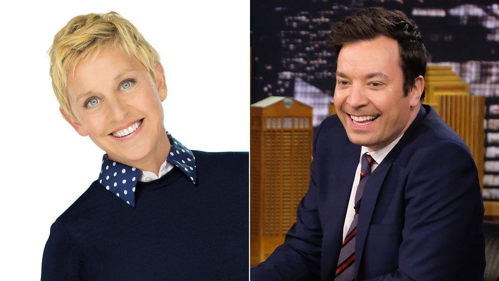 Ellen DeGeneres and Jimmy Fallon