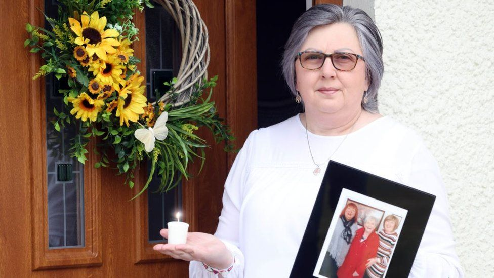 Brenda Doherty with a photo of her mum Ruth Burke