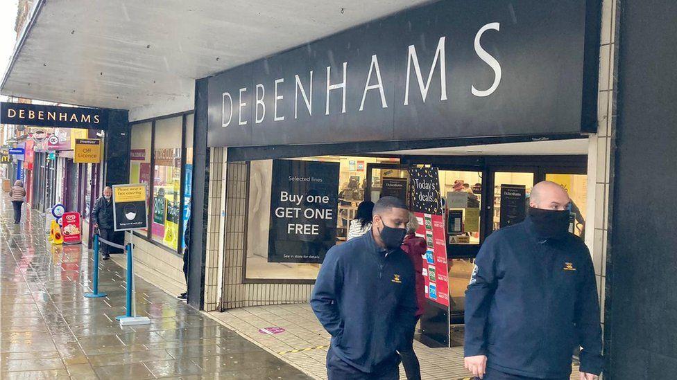 Rainy last day of shopping at Debenhams, Northampton