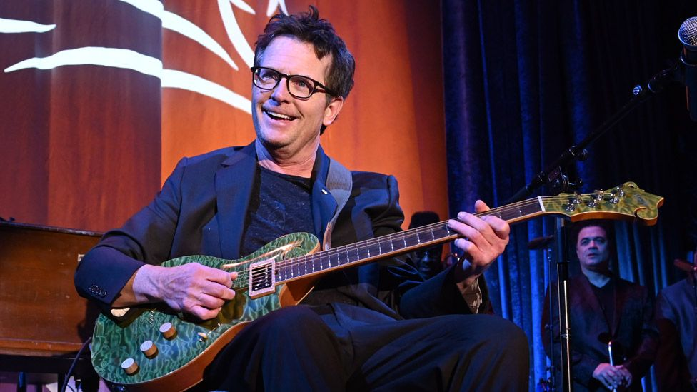 Michael J Fox appeared at a Parkinson's disease benefit event in November