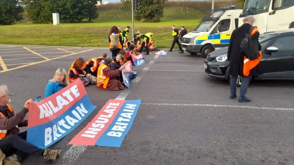 Protests at junction 31 of the M25