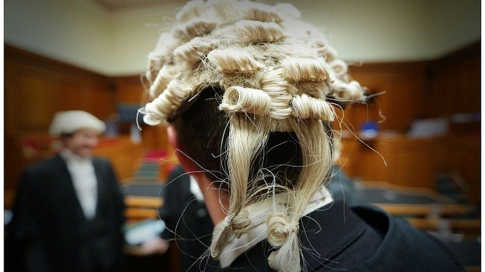 Barrister in court