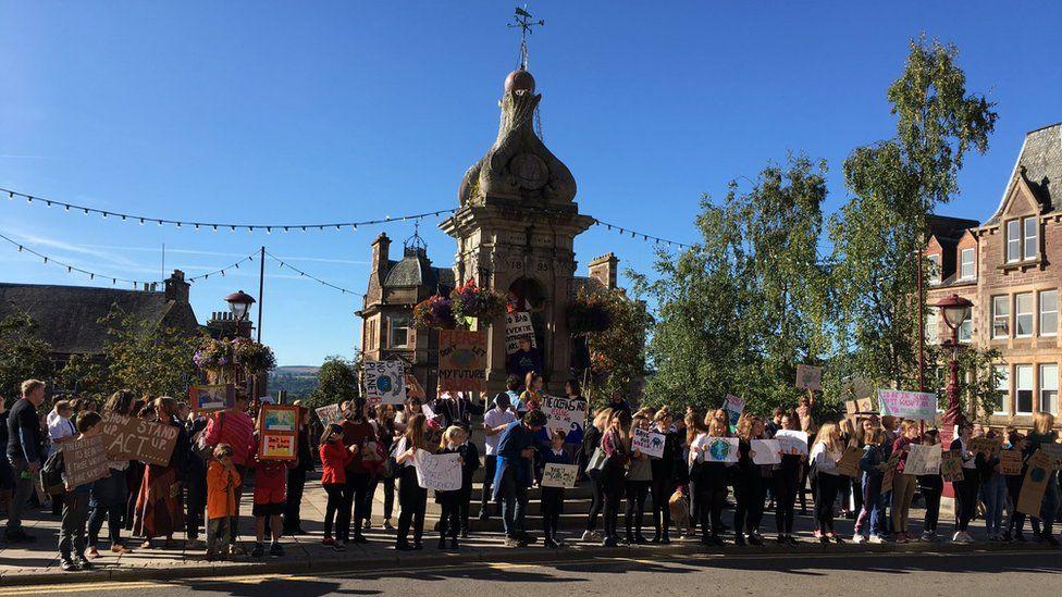 Crieff protest