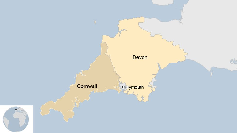 Plymouth Shooting: Multiple Fatalities in Keyham _119916768_plymouthmap