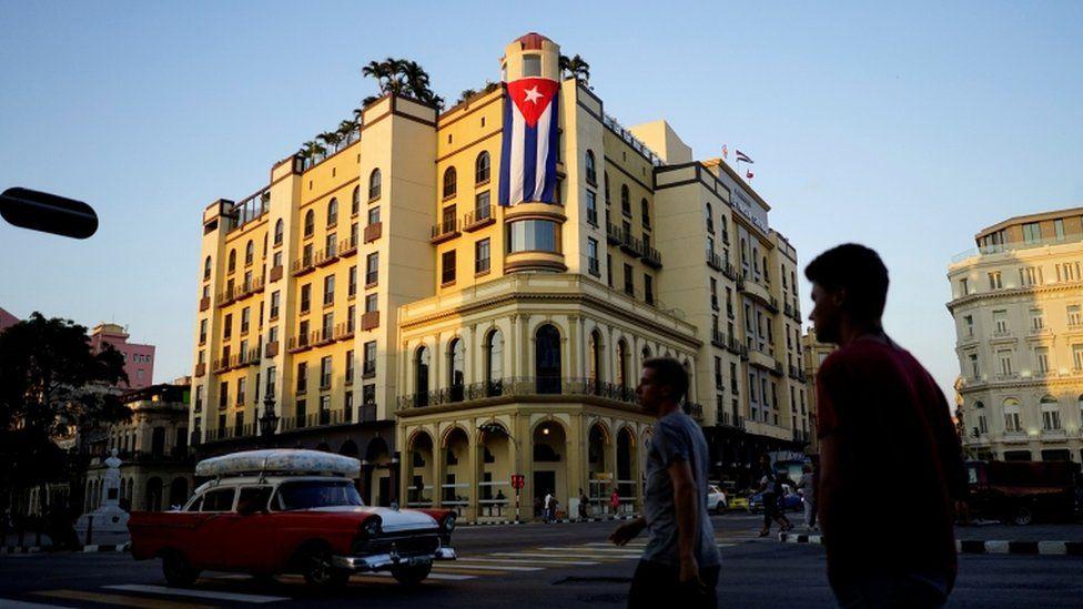 A hotel in downtown Havana