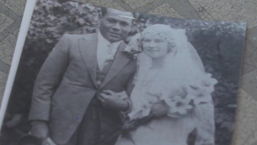 Jack and Lavinia on their wedding day