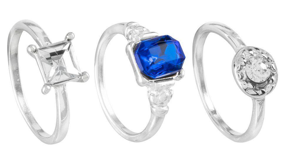 Three £1 engagement rings