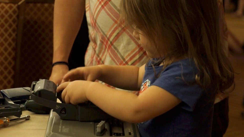 The kids' zone at Def Con had more than 300 attendees on its first day - around half of them were girls