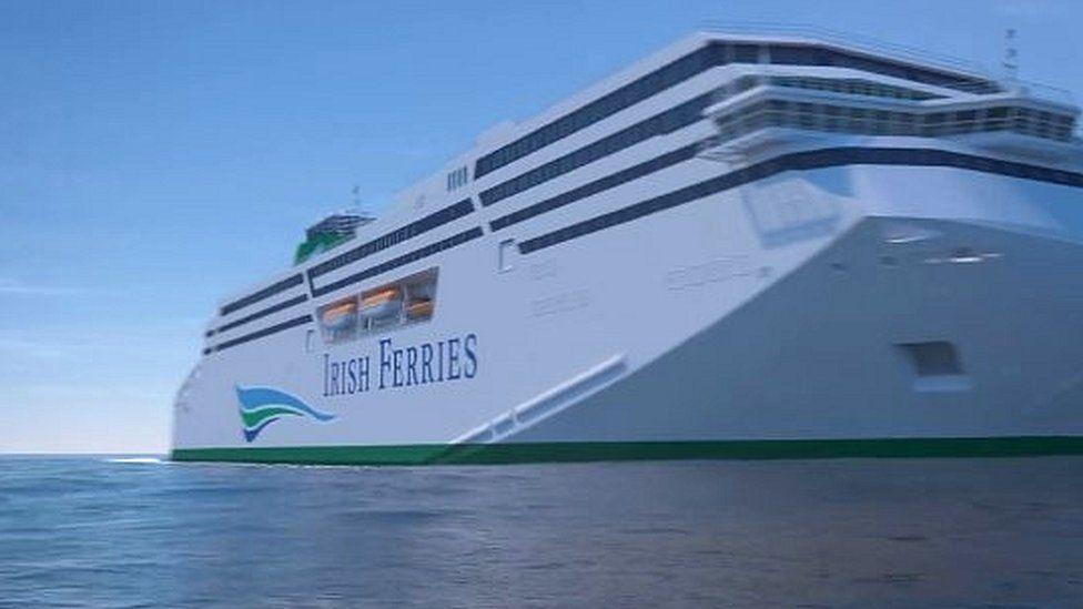 A new Irish Ferries ship