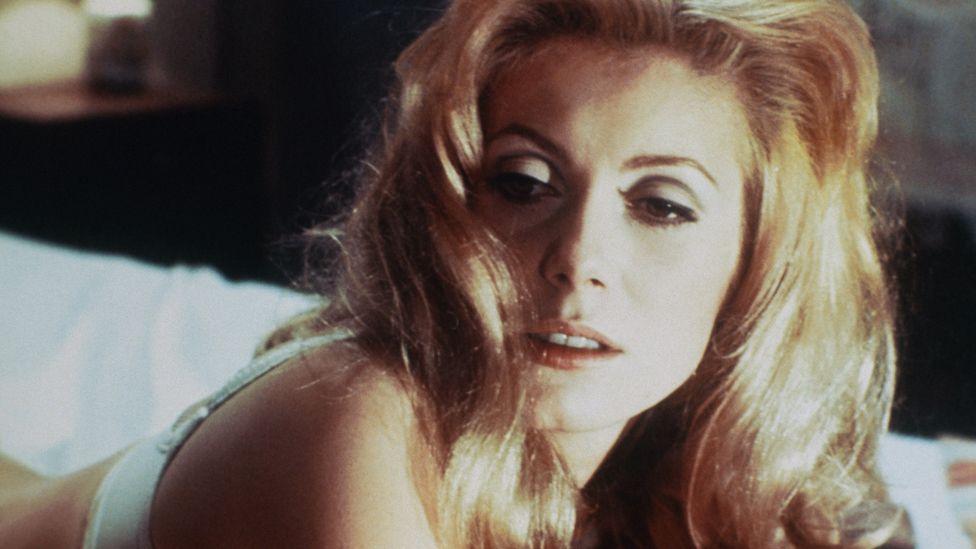 Deneuve on the set of the movie Belle de Jour in 1967