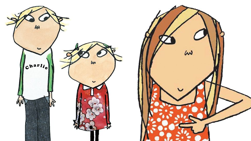 Charlie and Lola (left) and Clarice Bean