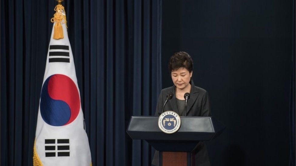 South Korea's President Park Geun-Hye (4 Nov 2016)
