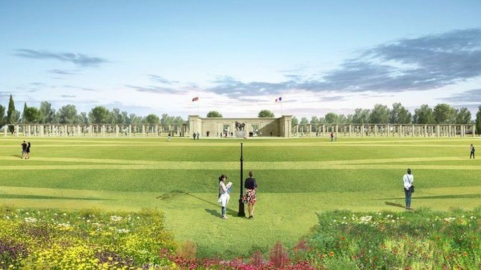 An artist's view of how the memorial will look