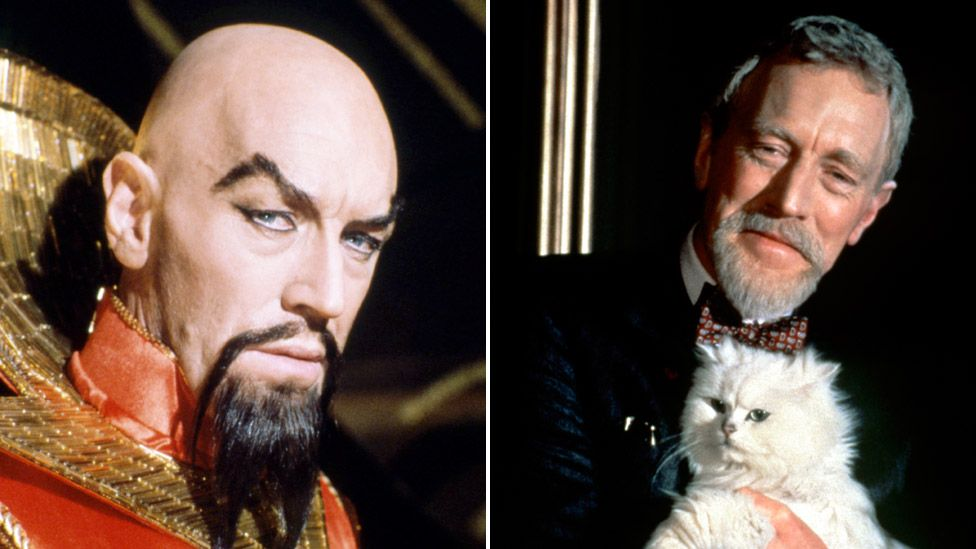 Max von Sydow as Ming the Merciless in Flash Gordon and Ernst Blofeld in Never Say Never Again