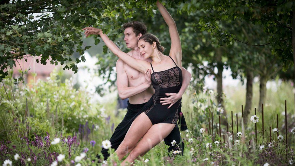 Dancers from the London Contemporary Ballet Theatre perform