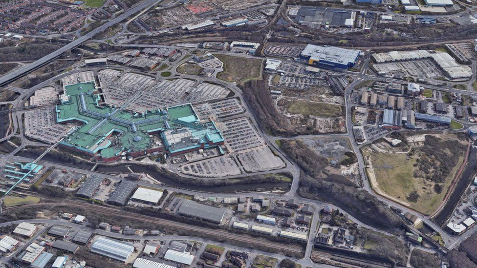 Aerial image of Meadowhall site