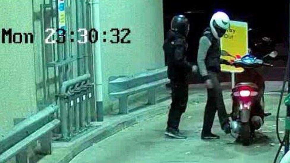 Gilmaney CCTV filling up petrol
