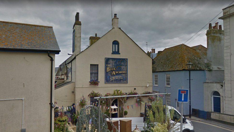 Blue Anchor pub in Teignmouth