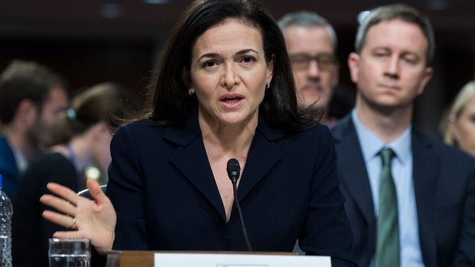 Facebook's Sheryl Sandberg is questioned by US politicians