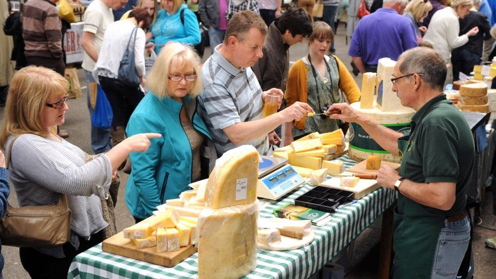 People at cheese fair