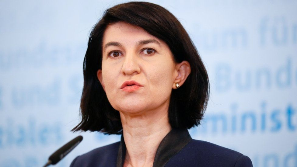 Romanian Labour Minister Violeta Alexandru gives a news conference