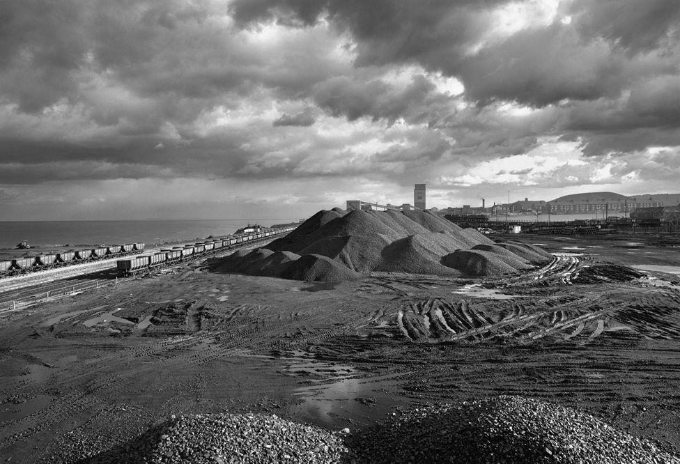 Coal Stock Piles, Dawdon Colliery, Seaham, England 1983