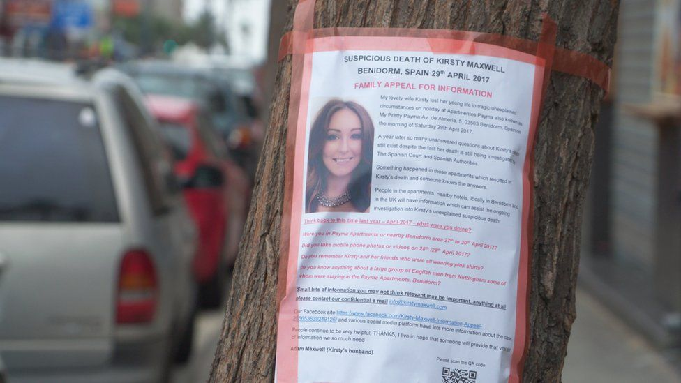 Kirsty Maxwell appeal for witnesses poster in Benidorm