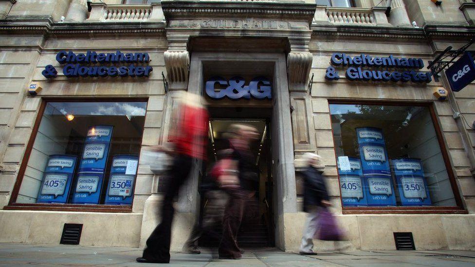 The facade of a Cheltenham & Gloucester branch