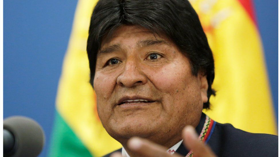 Bolivia's President Evo Morales speaks during a news conference in La Paz, Bolivia August 13, 2019