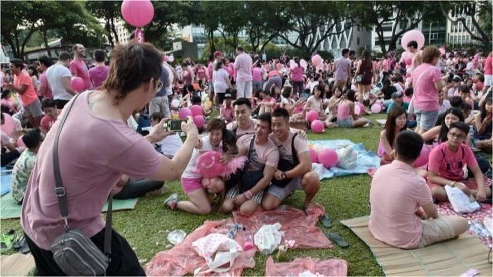 A gay rights rally, Pink Dot, is in held in Singapore annually