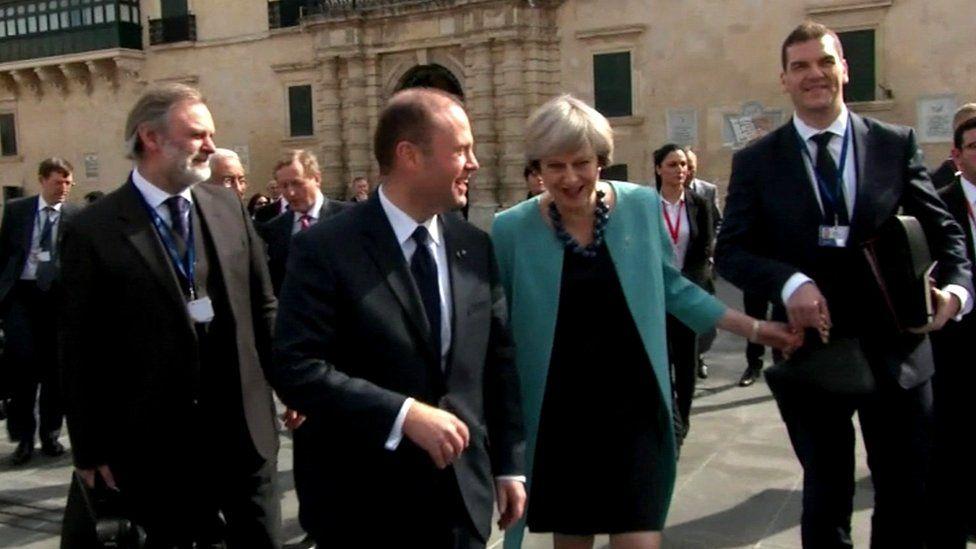 Oliver Robbins with Theresa May
