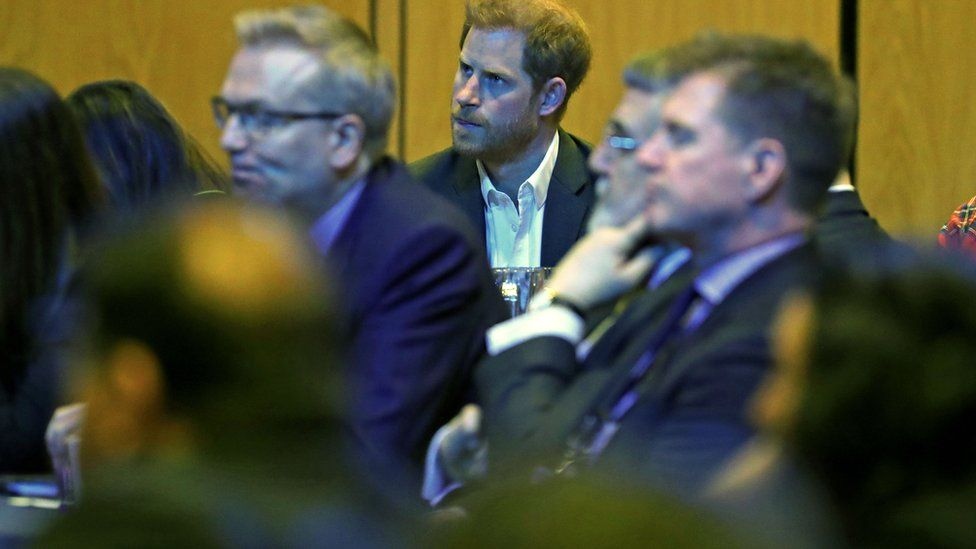 Prince Harry at conference