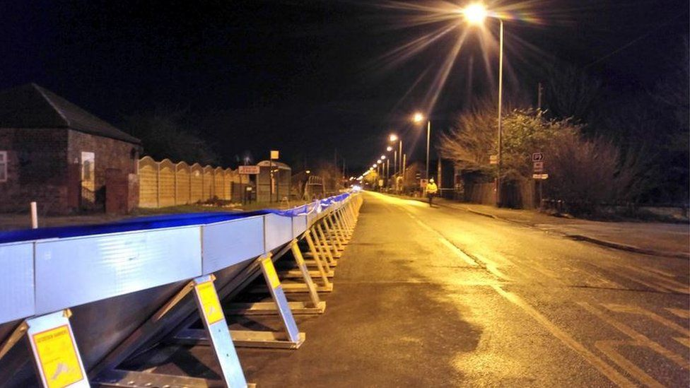 Flood barrier at South Ferriby, North Lincolnshire
