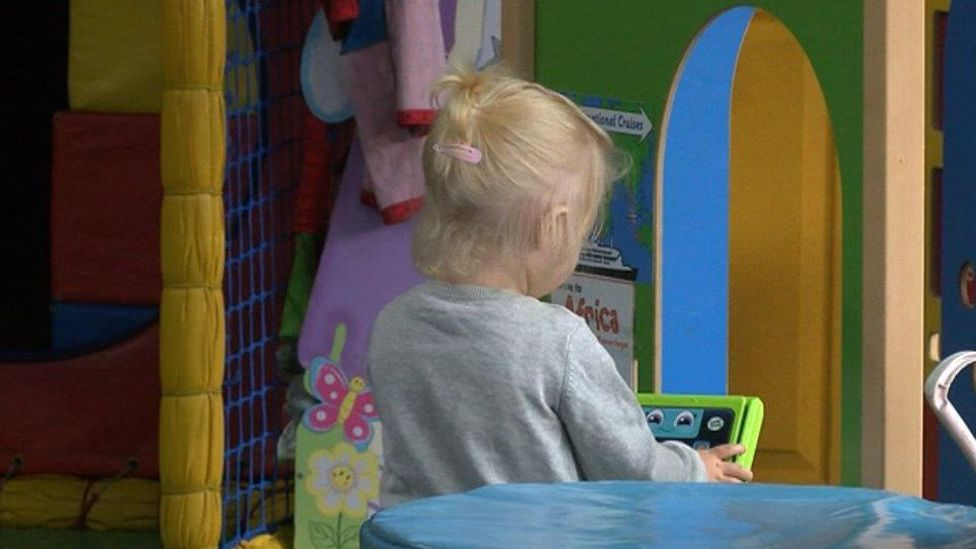 Child in Welsh nursery
