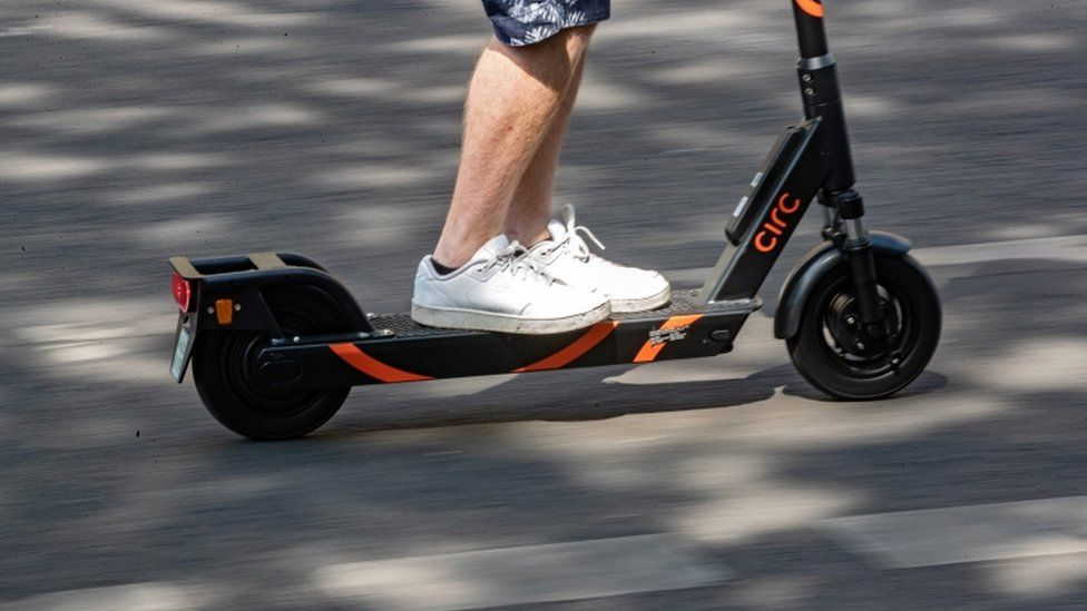 A file picture of an electric scooter