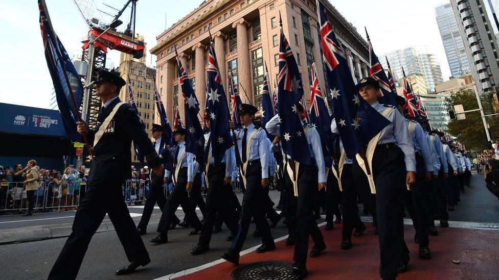 Anzac Day parade in 2019
