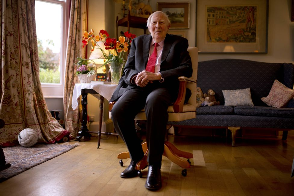 Roger Bannister at home in Oxford in 2014