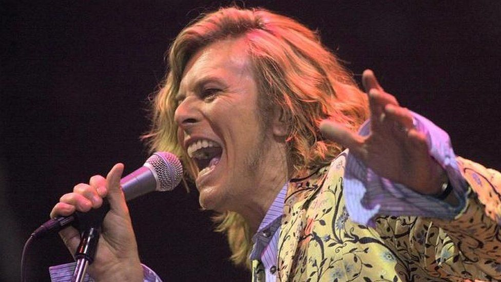 David Bowie plays Glastonbury's Pyramid Stage