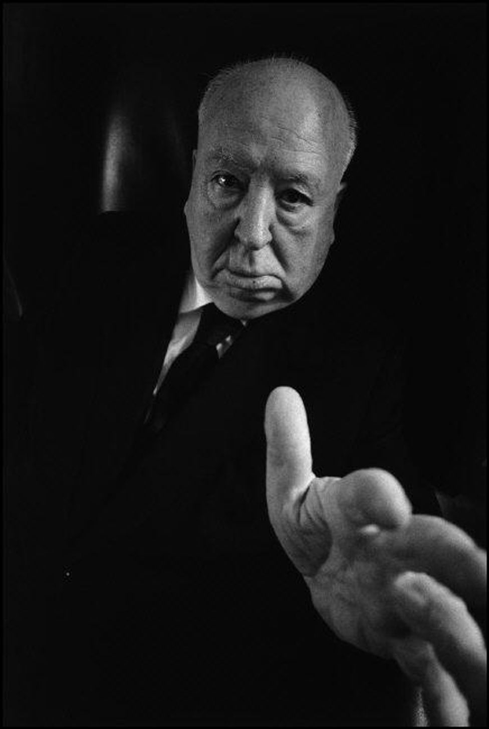 Alfred Hitchcock in his office at the Universal Studios in Los Angeles in 1974