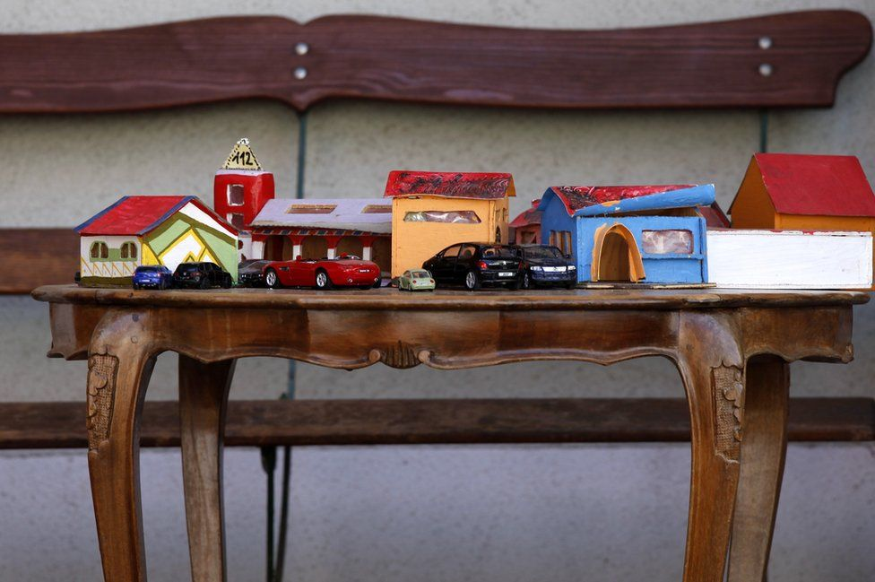 Toy cars and garages