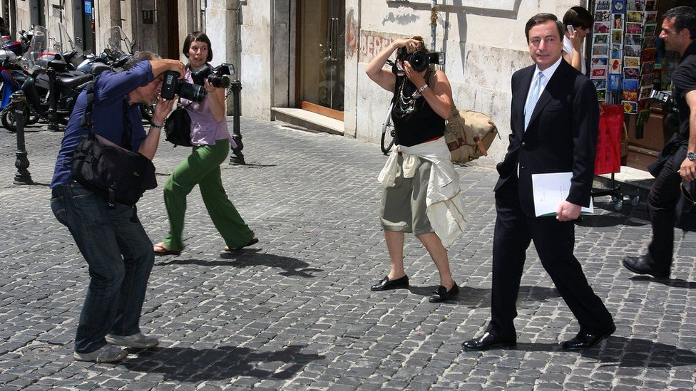 Mario Draghi as governor of the Bank of Italy in 2008