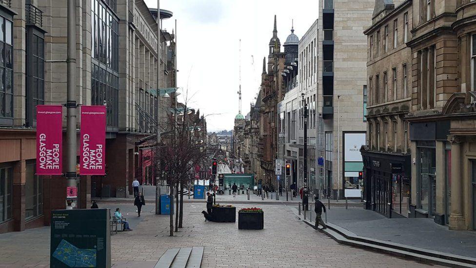 Empty streets in Glasgow