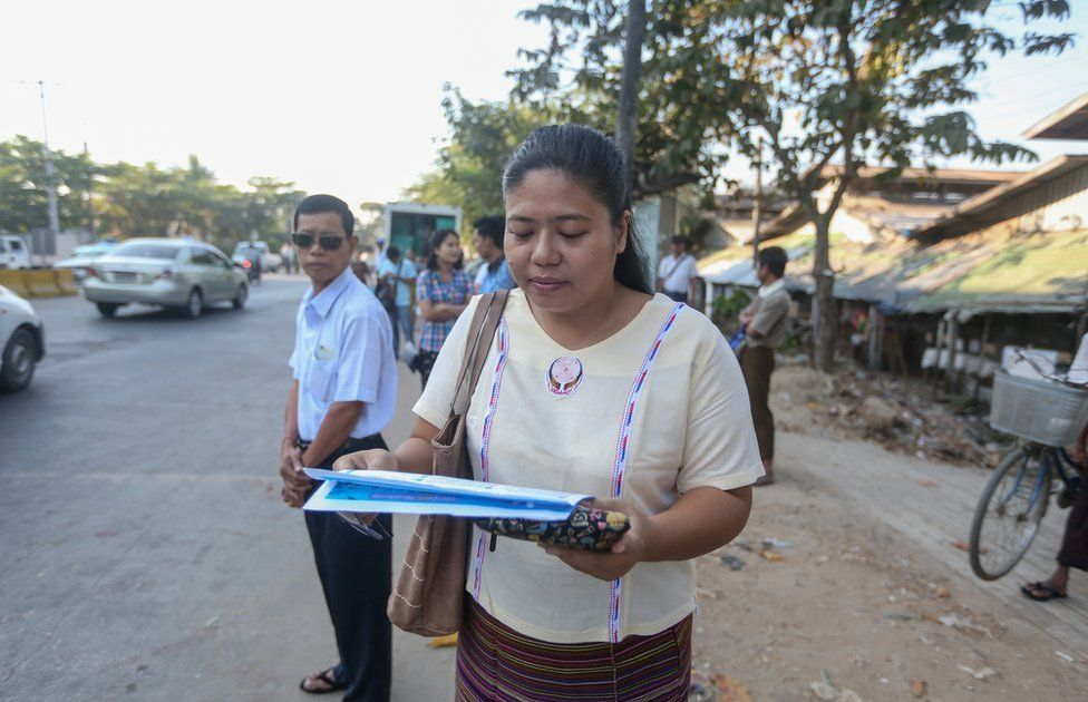 Phyu Phyu Zin age 36 who working with press and communication officer at Myanmar centre for Responsible Business (MCRB).