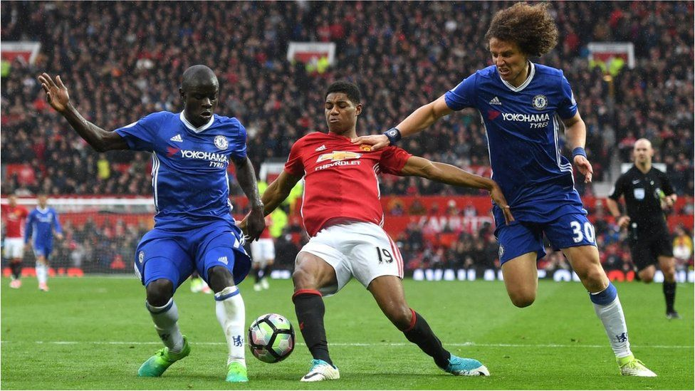 Manchester United v Chelsea in the Premier League