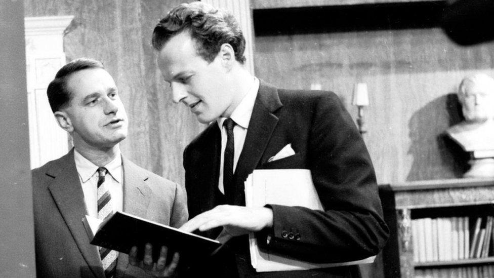 Geoffrey Palmer & Hugh Cowley in the Granada TV series, Family Solicitor (1961)t's Sh