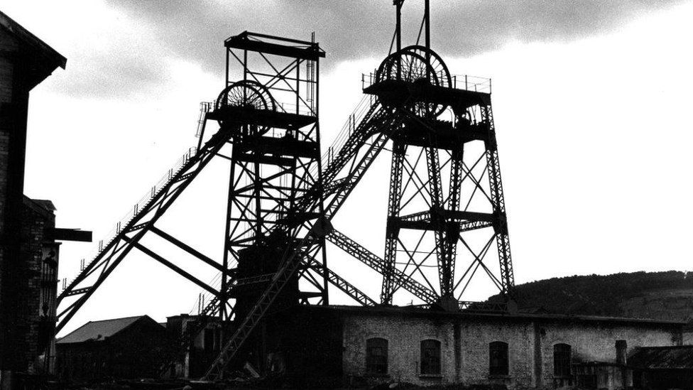 Albion Colliery in 1968, after it closed