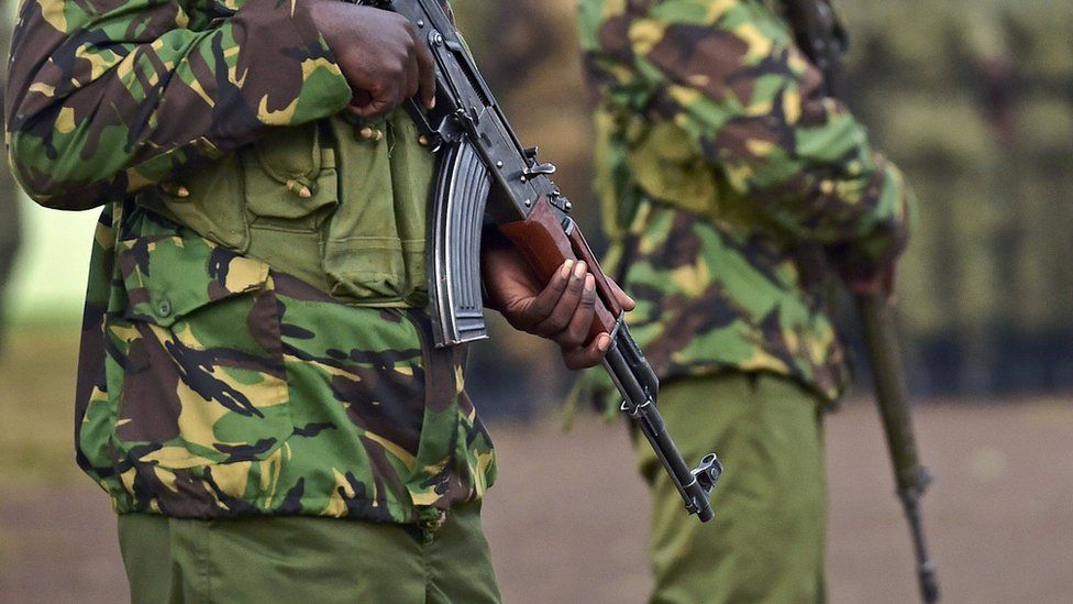 Kenyan soldiers - July 2015
