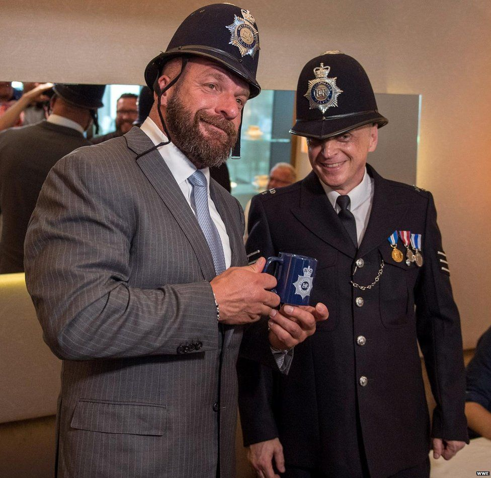 Triple H and sergeant Bill Lowden