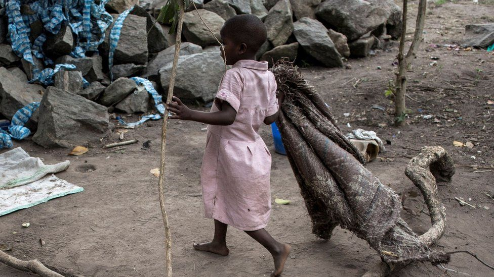 File pic of Congolese child in orphanage from 2018